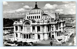 *Palacio de Bellas Artes Mexico City Old Cars Vintage Photo Postcard C81