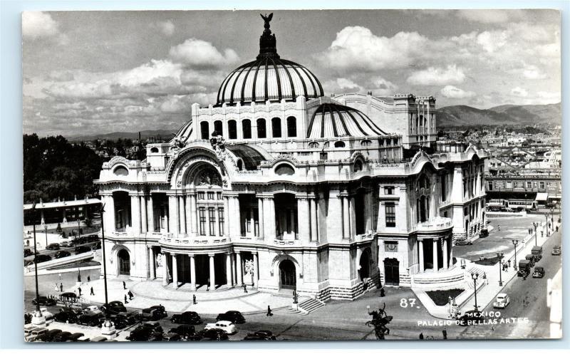 *Palacio de Bellas Artes Mexico City Old Cars Vintage Photo Postcard C81