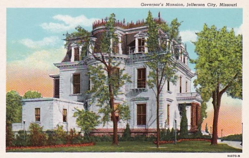 Missouri Jefferson City Governor's Mansion Curteich
