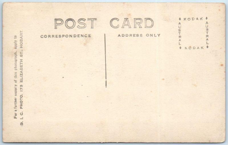 RPPC   HOBART, TASMANIA  Australia   ELIZABETH STREET Scene  ca 1910s   Postcard