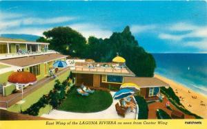 1970 Laguna Riviera Apt Hotel Colorpicture postcard 9268