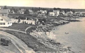 Pemaquid Beach ME Birdseye View A. E. Merrill, publisher RPPC Postcard