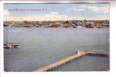 Bird's Eye View of Long Wharf and Yarmouth Nova Scotia, H McKinley