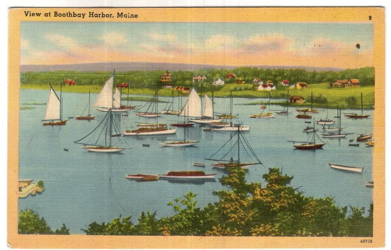 View at Boothbay Harbor, Maine