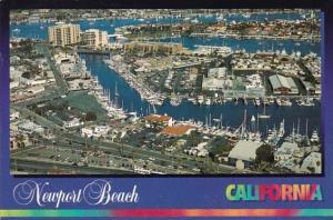 California Newport Beach Aerial View West End Of Newport Bay 1997