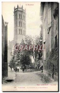 Pamiers Old Postcard The bell tower of the cathedral