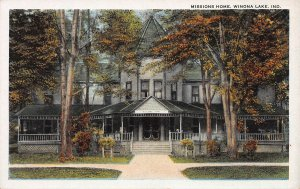 Missions Home, Winona Lake, Indiana, Early Postcard, Unused