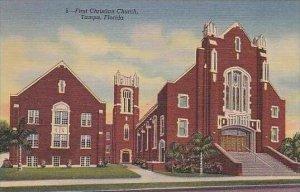 Florida Tampa First Christian Church Curteich