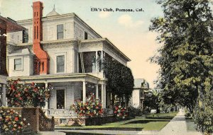 Elk's Club, Pomona, CA Los Angeles County c1910s Vintage Postcard