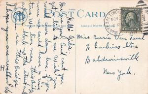 Hanover Street Bridge, Baltimore, Maryland, Early Postcard, Used in 1923