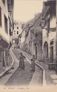 Ladies Standing On The Middle Of The Street, Jerzual, Dinan (Cotes d'Armor), ...
