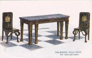 The Queens Doll House Hall Table &amp  Chairs Raphael Tuck  Oilette  Series I