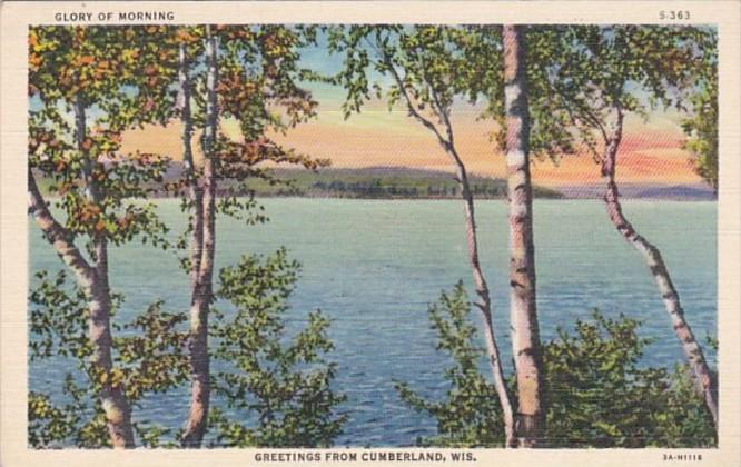 Wisconsin Greetings From Cumberland Curteich