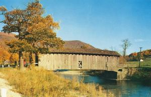 W Arlington, Vermont/VT Postcard, Covered Bridge, Near Mint!