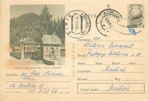 Romania postal stationery postcard Wine valley resort