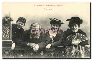 Old Postcard Fantasy humor the Durand family to the theater a gay way