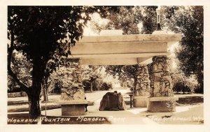 LP73   Thermopolis  Wyoming  RPPC Postcard   Washakie Fountain Mondell Park