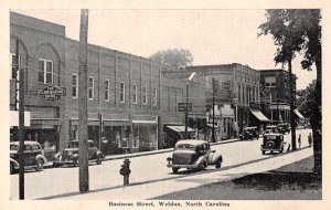 Weldon North Carolina Business Street Vintage Postcard JI658425