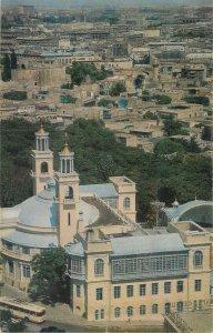 Postcard Azerbaijan BAKU Icheri Shehir fortress Philharmonic aerial view