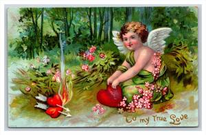 VALENTINE  Cupid with Hearts