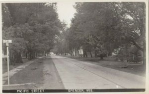 RP: SPENCER , Wisconsin, 1930-40s ; Pacific Street