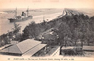 Suez and Freshwater Canals Port Said Egypt, Egypte, Africa Unused