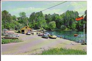 Government Wharf, Sturgeon Falls Ontario, 50's Cars,  Flag