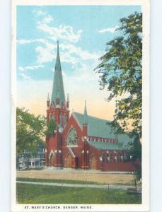 W-Border CHURCH SCENE Bangor Maine ME A9633