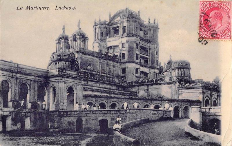 B96071 la martiniere real photo   lucknow  india