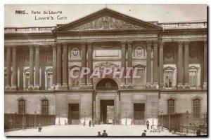 Old Postcard Paris Porte du Louvre