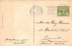 13267  Netherlands utrecht-station Postmark Cancel 1927