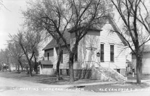 Alexandria South Dakota Lutheran Church Real Photo Antique Postcard K55369