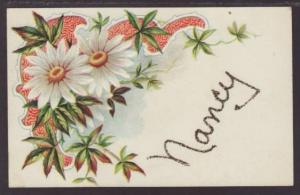First Name Nancy Flowers Postcard 4467