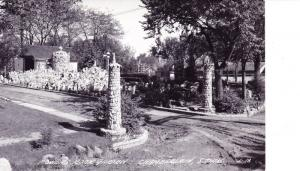RPPC Postcard Powers Rock Garden, Chamberlain So Dakota, Visionary Folk Art D16