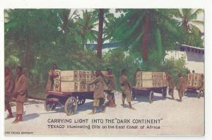 Texaco Illuminating Oils Africa Vtg Advertising Postcard