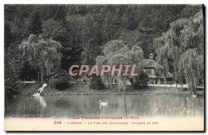 Old Postcard Luchon Le Parc Des Quinconces Buvette du Pre