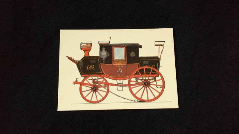 Colour Postcard 200 years Of Carriage Of Mail By Coach Edinburgh to London