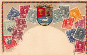 Venezuela, Stamps on Early Embossed Postcard, Unused, Published by Ottmar Zieher
