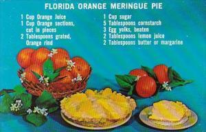 Florida Orange Meringue Pie Recipe Card