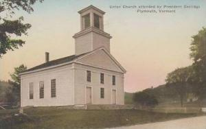 Vermont Plymouth Union Church Attended By President Coolidge Albertype