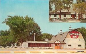 1960s Hapsburg Inn Family Restaurant Mt Prospect Illinois Cameo postcard 2485