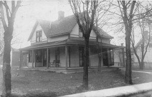 F34/ Anderson Indiana RPPC Postcard 1908 Home Porch