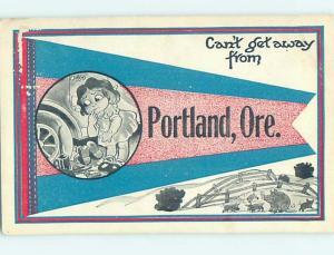 Divided-Back COMIC POSTCARD Portland Oregon OR HM4813