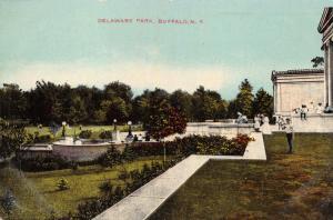 BUFFALO NEW YORK DELAWARE PARK POSTCARD 1910s