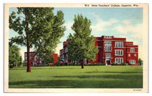 Mid-1900s State Teachers College, Superior, WI Postcard