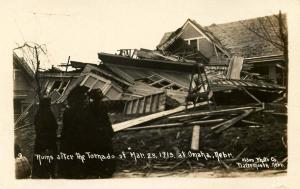 NE - Omaha. March 23, 1913. Tornado Ruins   *RPPC