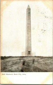 Vtg Postcard 1909 Floyd Monument Sioux City Iowa IA