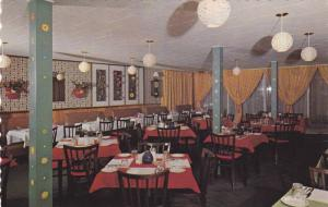 Interior of Restaurant Au Pigalle, Steaks, Seafood, and Fish, Perce, Quebec, ...