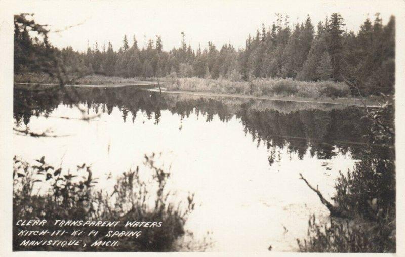 RP; MANISTIQUE, Michigan, 1910-20s; Kitch-Iti-Ki-Pi Spring