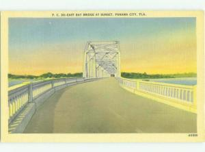 Unused Linen BRIDGE SCENE Panama City Florida FL HQ9995